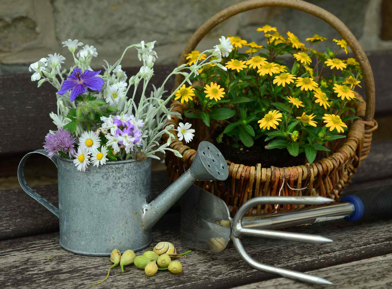 Water saving systems for container gardening on a balcony or terrace how to conserve water in - Ways saving water watering garden ...